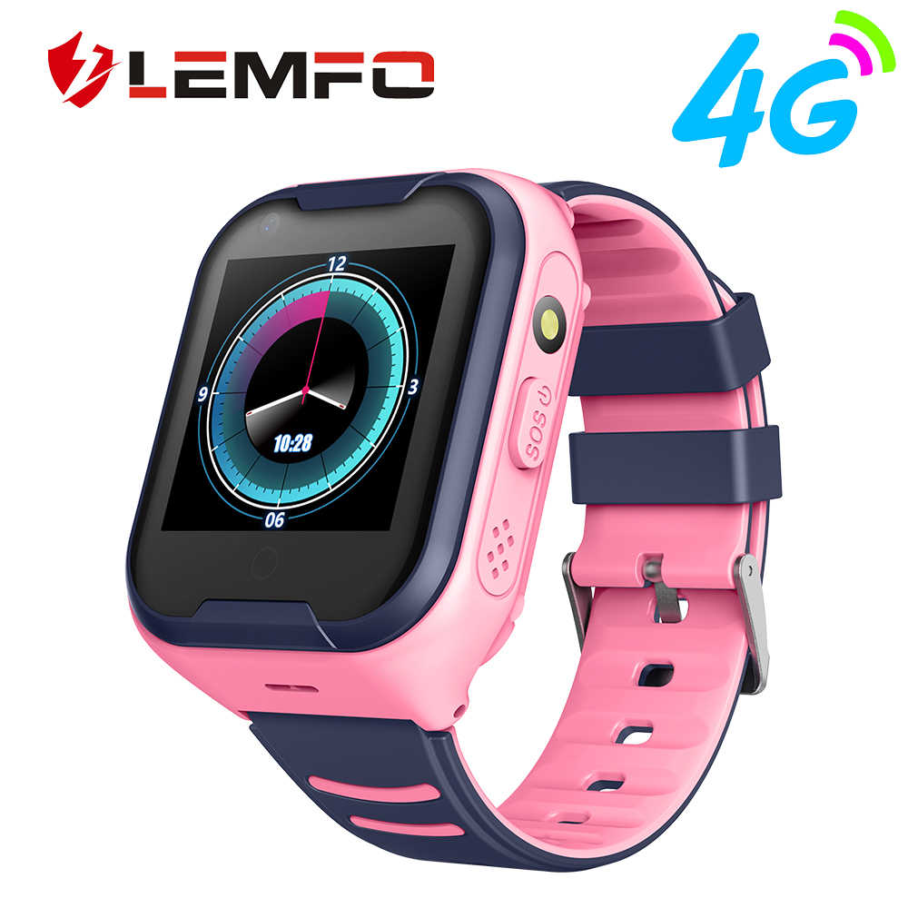 LEMFO Kids Smart Watch 4G GPS Touch Screen SOS SIM Phone Call Waterproof Children Watch with Camera