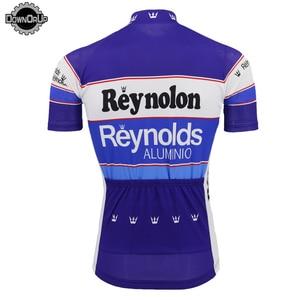Image 2 - 2020 classique hommes maillot de cyclisme été course équipe bleu vélo cyclisme vêtements Reynolds hauts vtt maillot course vêtements Triathlon