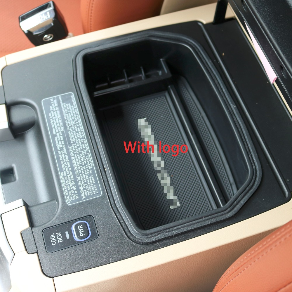 Hot Sale 2008 2017 Car Interior Non Slip Stowing Tidying Box Central Toyota Land Cruiser Accessories For Lc 200 Fj200