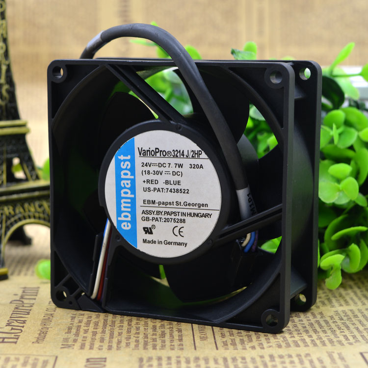 Free Delivery. 3214 j / 2 gp 24 v, 375 ma 7.7 W authentic 9 cm fan high-end equipment ...