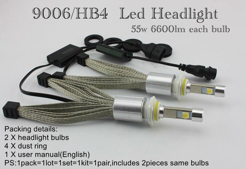 Ossen P70 HB3 9005 55w LED Headlights 5000k 3600lm Xenon White Headlight H4 H7 H8 H9 H11 H10 9006 HB4 9012 9004 9007 Head Lamps 2 9006