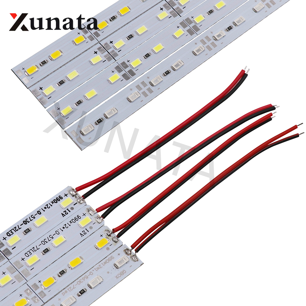 5/10/20pcs DC12V 0.25M/0.5m White/Warm White/Red/Green/Blue Aluminum LED Bar 5730 5630 Hard Strip Light