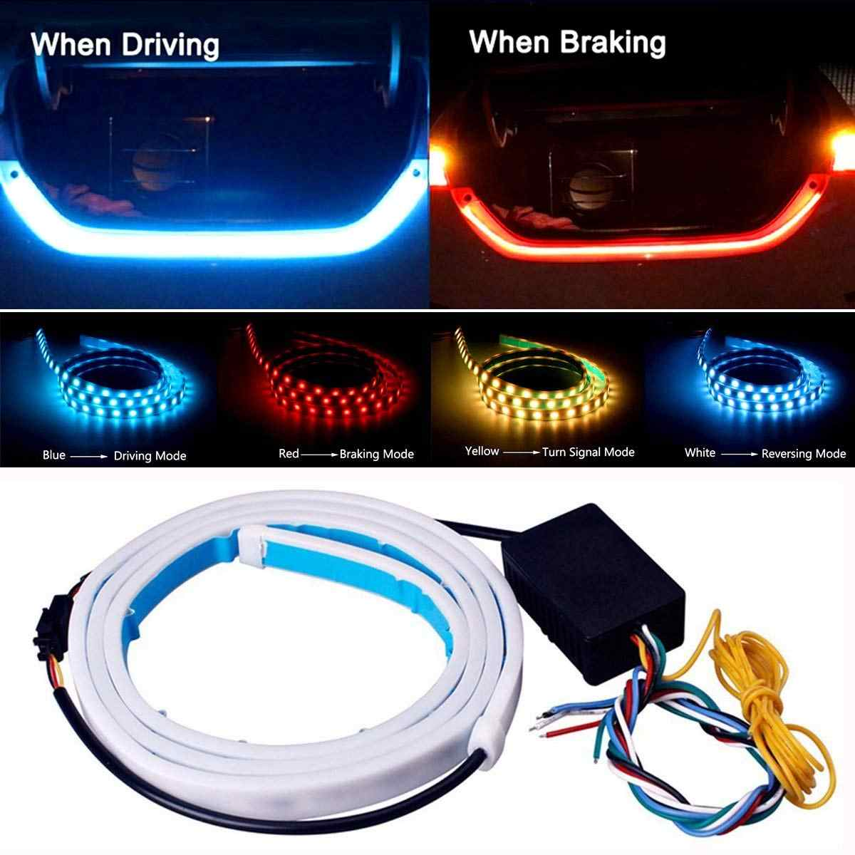 Amber Turn Signal Flow led trunk Strip light Tailgate luggage 12V Car Rear Lamp Dynamic Streamer Floating led strip