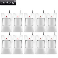 Free shipping High quality new 10pcs White infrared detector wireless GSM alarm system 433 MHZ  for Home Burglar Security alarm