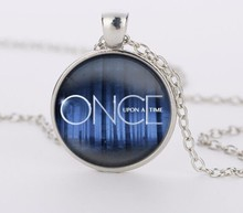 Once upon a time glass pendant necklace jewelry movie choker necklace vintage style movie was Jewelry HZ1