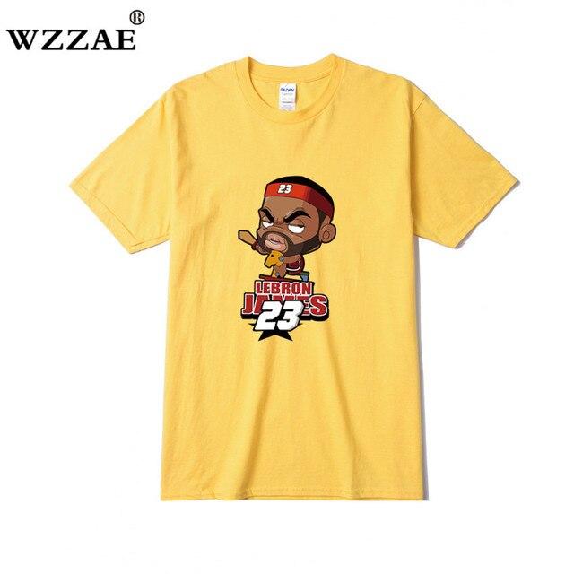 7631cd7f35d WZZAE For LeBron Cartoon T Shirts New Fashion Men T Shirt Men Tops Short  Sleeve Cotton O-neck Casual James 23 T-shirts Tee