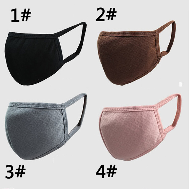 PM2.5 Mouth Mask Fashion Solid Anti Haze Dust Mask Nose Filter Windproof Face Muffle Bacteria Flu Fabric Cloth Masks 3