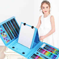 176PCS Creative Painting Graffiti Paint Brush Set Fashion Children Daily Entertainment Toy Art Sets With Easel Gift for Kids