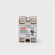 цена на SSR 80DA  input 3-32V DC load 24-380V AC single phase DA solid state relay Include Heat Sink SSR-80DA