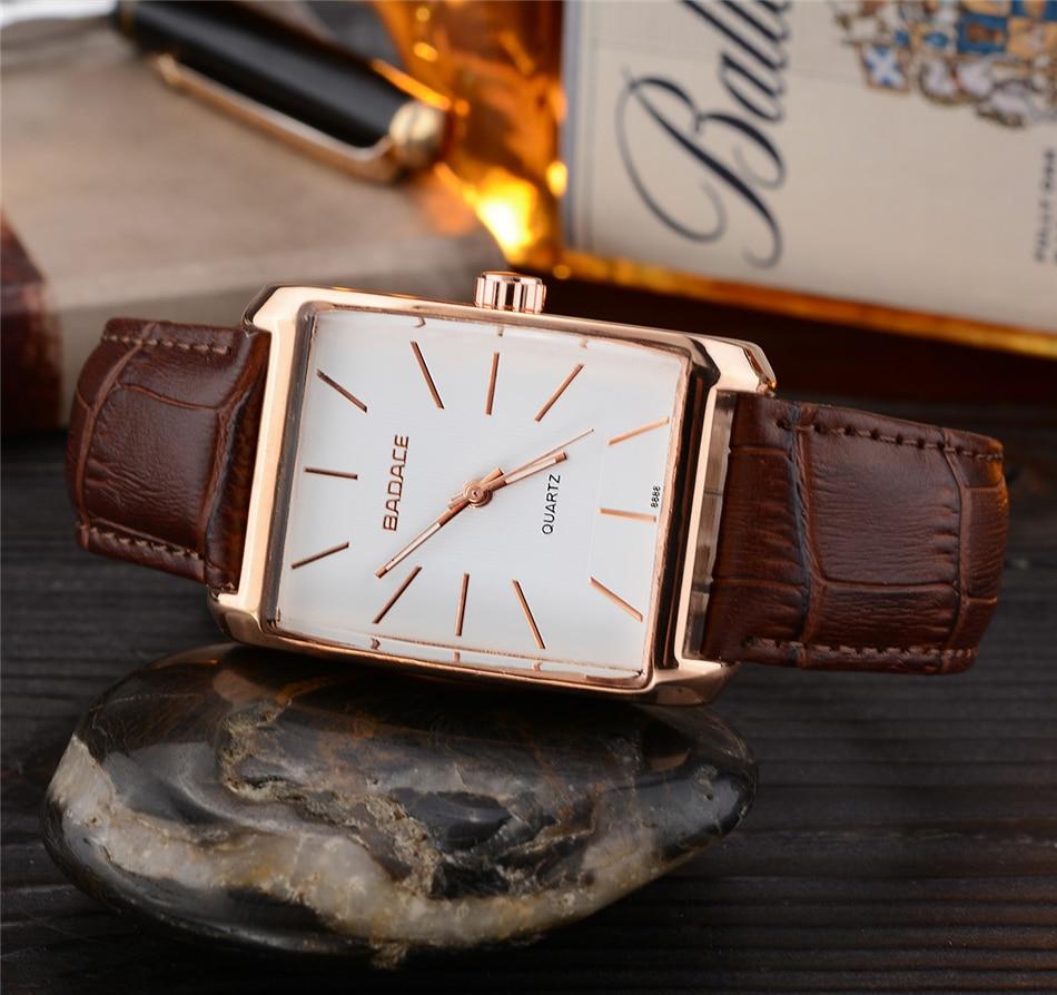 BADACE diseño clásico Rectangular relojes de hombres de la marca de ... 9dc6da55e0dc