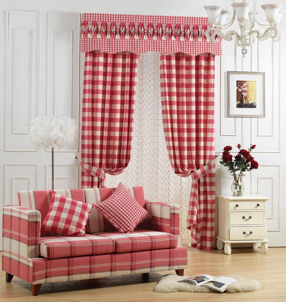 Compra cortinas de tela escocesa roja online al por mayor de China Mayoristas de cortinas de tela escocesa roja  Aliexpresscom  Alibaba Group