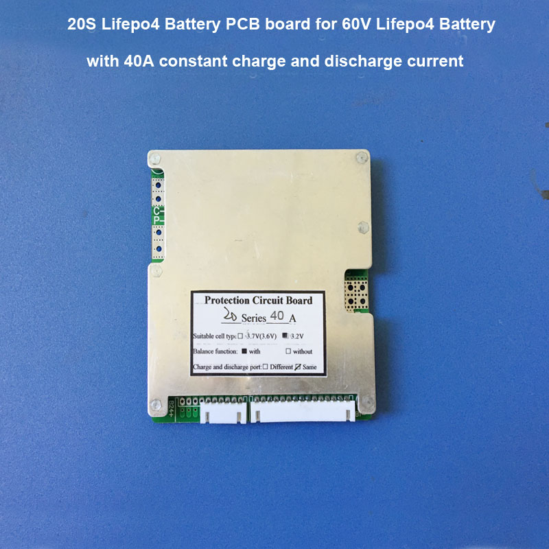 60V Lifepo4 BMS electric scooter lithium ion battery protection circuit board with 35A constant discharge current