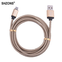 Hot Sale 25cm 1m 2m 3m Nylon Braided USB Charging Cable Sync Data Cord for iPhone 5 5s 5c SE 6 6s 7 Plus for iPad mini Air Cable