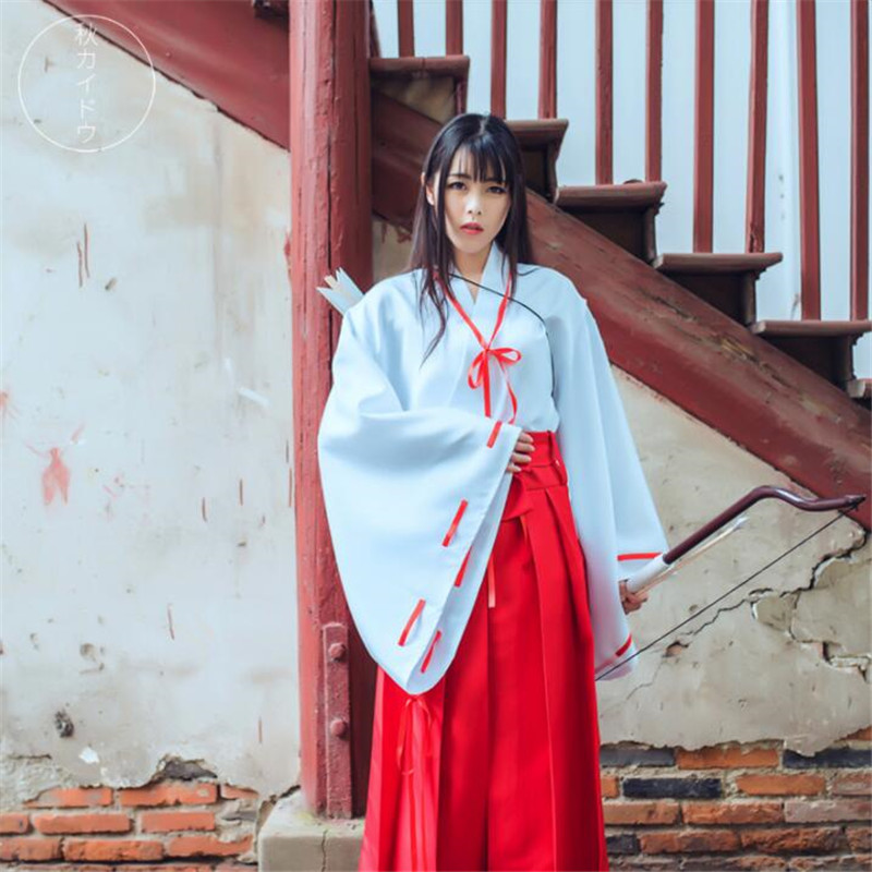 Anime Inuyasha Kikyo Cosplay Costumes Clothing Cosplay Uniform Japan Kimono ...