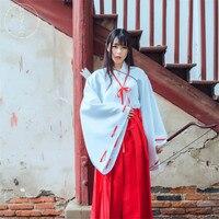 Anime Inuyasha Kikyo Cosplay Costumes Clothing Cosplay Uniform Japan Kimono