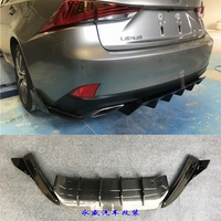 IS300 F SPORT carbon fiber Rear lip rear diffuser side skirts rear spoiler for Lexus IS300 Car body kit 15 17