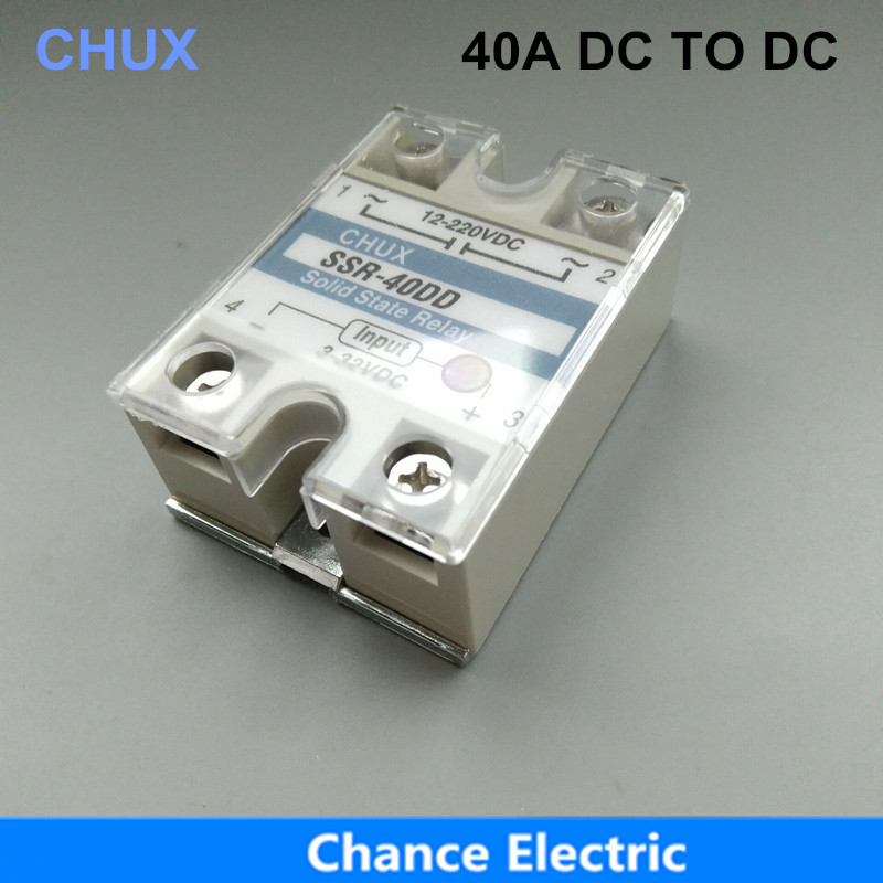 SSR 40A DC To DC 3-32VDC 220v White Shell Single-phase Solid State Relay  SSR 40DD ssr 40da single phase solid state relay white silver