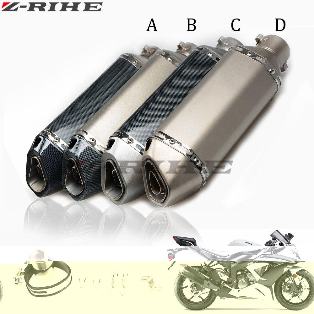 36-51mm Motorcycle carbon fiber exhaust Muffler pipe For SUZUKI GSXR 2006 GSXR 600 K6 GSXR 750 GSXR 1000 K7 K9 GSXR1000 yamaha motorcycle 36 51mm escape scooter exhaust muffler pipe for yamaha kawasaki ktm 2006 2010 suzuki gsxr gsx r600 750 k5 k6 k7 k8 k9
