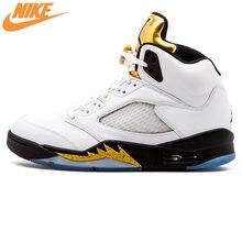 4a2a3c3e9fb1 Nike Air Jordan 5 Retro Olympique AJ5 Joe 5 Olympique Médaille D'or Chez  Les Hommes de Basket-Ball Chaussures, d'origine Confort.