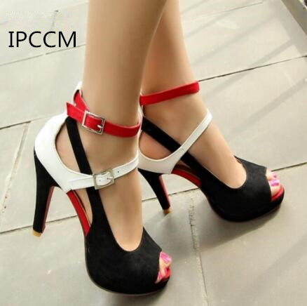 ipccm big size 34 43 fashion party red sole shoes woman