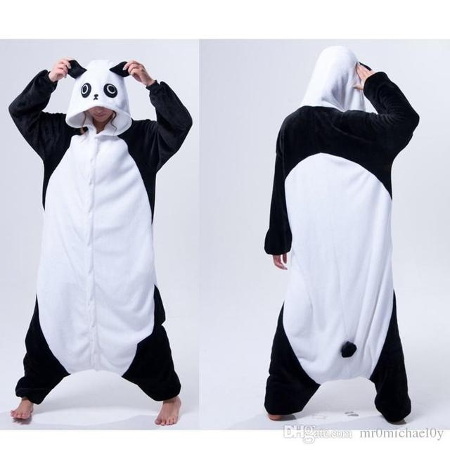 b2a18637f Unisex Animal Onesies Pajamas For Adult Cute Kongfu Panda Onesies ...
