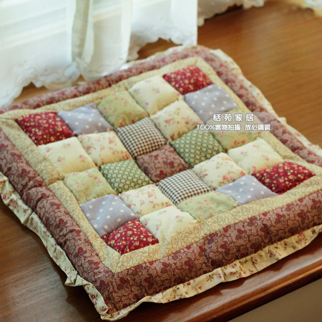 Rustic Cushion Fabric Quilting Cushion Office Chair Mat Decorative Cushion  Rattan Chair Cushion Sofa Chair Pad