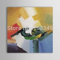 100 Hand Painted The Abstract Geometry Contemporary Abstract Oil Painting Landscape Canvas Oil Painting 16x16inch