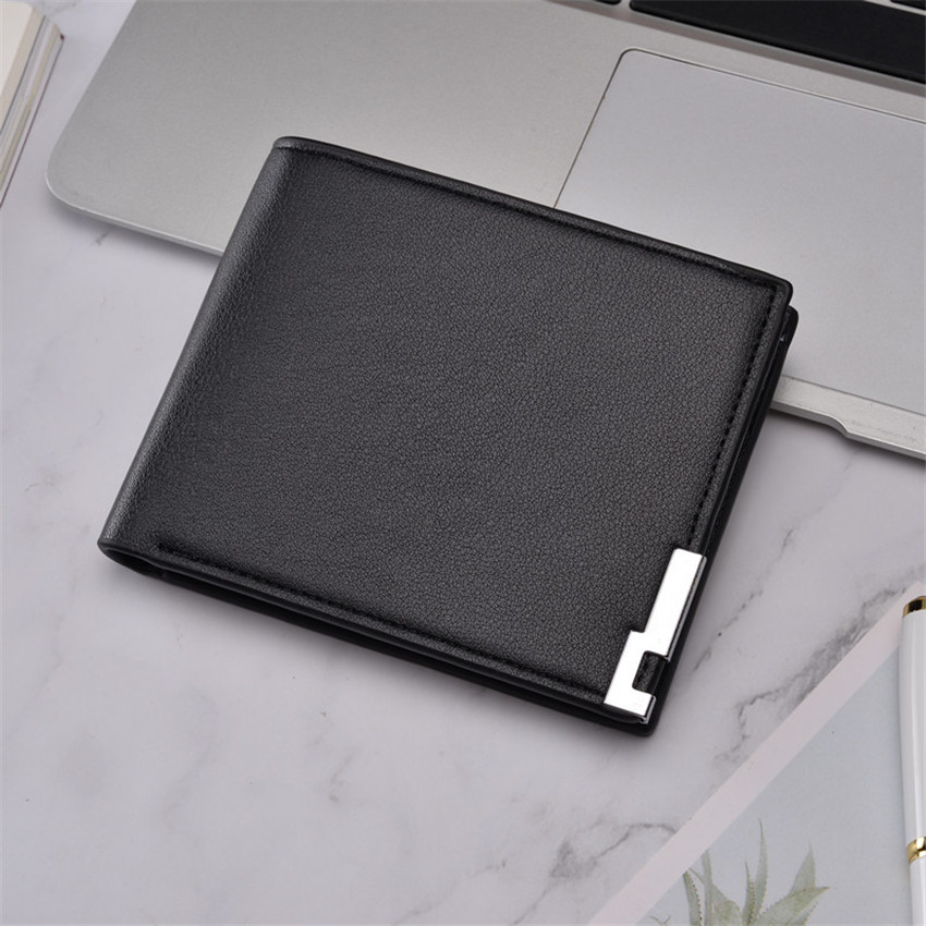 Top 2019 Ultra-thin Short Sequined Men Wallets With Coin Bag Roomy Purse Man Wallet Male Small Money Dollar Slim Cool Card Case