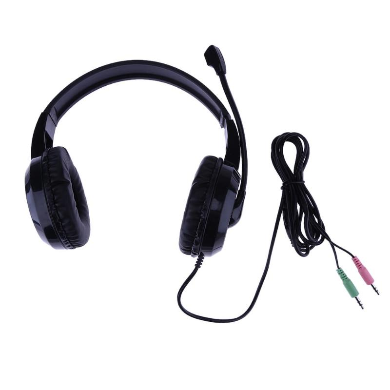 Noise Canceling 3.5mm Wired Stereo Gaming Headphone with Mic for PC Laptop Small intelligent remote control volume microphone rock y10 stereo headphone earphone microphone stereo bass wired headset for music computer game with mic