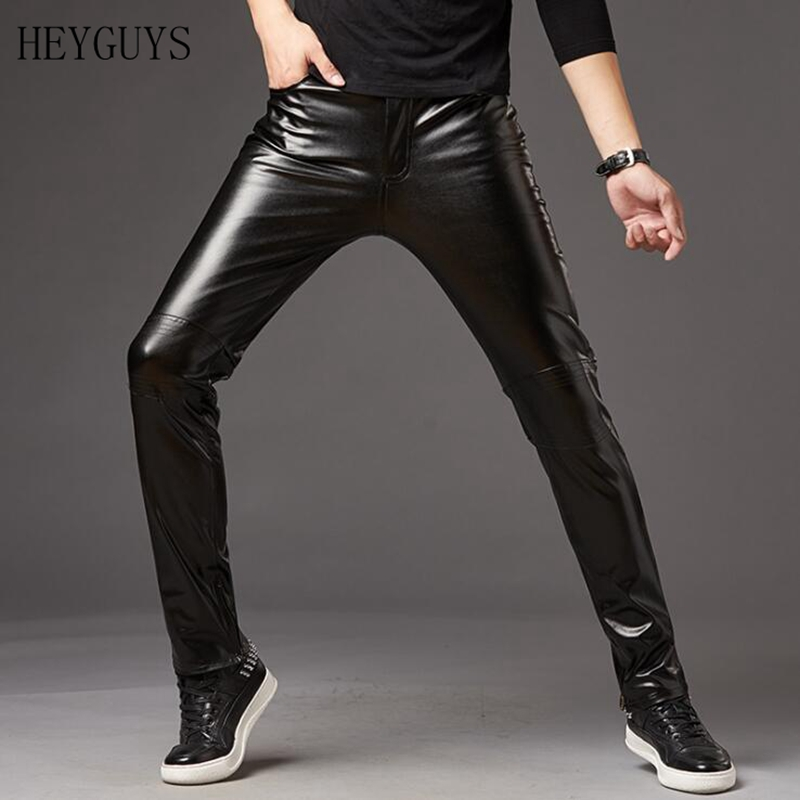 Pants Trousers Dancer Singers Silver Mens Skinny Male Fashion New Faux Nightclub
