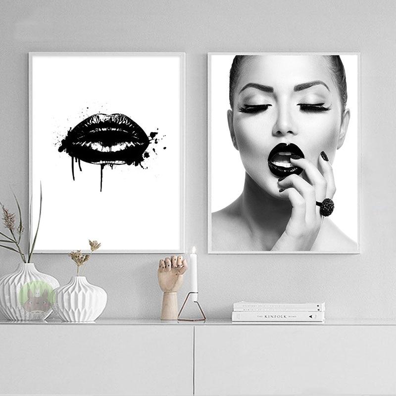 Fashion Scandi Art Kate moss Vogue modern beauty room office bedroom print