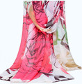 NEW ARRIVAL Korea trend Big rayon silk sarongs Scarf Women Fashion beach shawl mixed color 180*110cm 12pcs/lot #3833