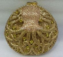 Freies verschiffen!! B21, mode top kristallsteinen ring handtaschen für damen nette parteibeutel