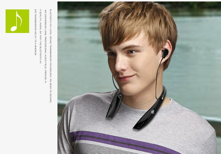 Neckband Bluetooth Sport Stereo Headset Zealots H1 HiFi Headphones With Mic For iPhoneSamsung Handfree Call (2)