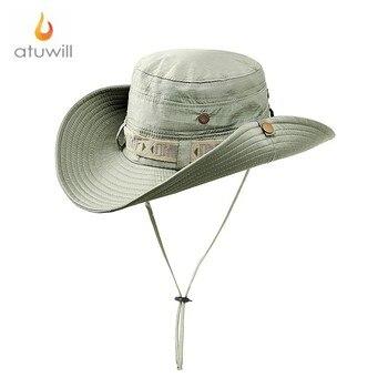 96b40802f9f5e Atuwill Anti UV cubo sombreros Bob Camo Bonnie sombrero pesca barbacoa  algodón montaña escalada sombreros para hombres mujeres tapas al aire libre
