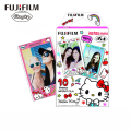 10 Оригинал Fujifilm Instax Mini Instant Color Film hello kitty для polaroid Мини 7 s 8 25 50 s 90 SP-1