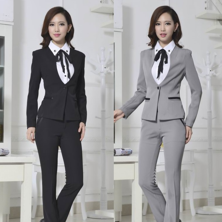 Formal Ladies Pant Suits for Women Business Suits Work Wear Blazer ...
