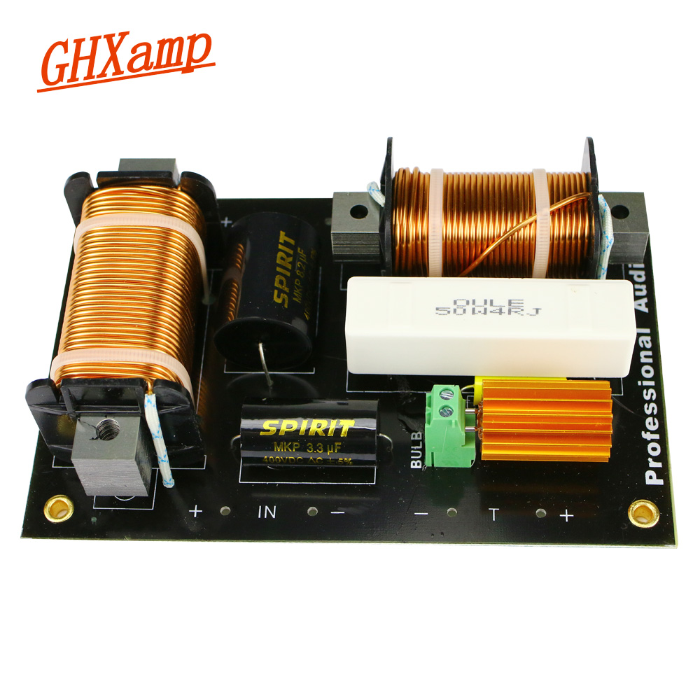 Ghxamp 800W 2 Way Crossover Tweeter Woofer Crossover 2000Hz High Power For 12 15 inch Stage