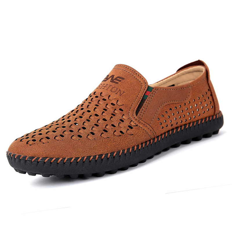 Summer Breathable Men Casual Shoes Faux Suede Leather Loafers Hollow Driving Shoes Male Flats Moccasines Zapatillas XK033011 big size 39 48 men flats summer genuine leather loafers breathable driving shoes moccasines slip on male casual shoes xk032808