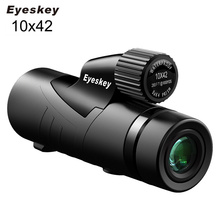 Eyeskey 10x42 Monocular Fully Multi-coated Bak4 Prism Optics Telescope Waterproof Monoculars Outdoors Camping Hunting Scopes