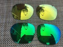 2 pares Jade verde y 24 K oro polarizado lentes lente para Garage Rock  gafas de sol f3e3cf49ba