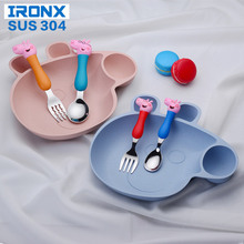 IRONX Kids Cartoon Pig Creative children Cutlery set Lovely Plastic Dinner Plate Bowl lunch Tray Dishs & Buy love plates set and get free shipping on AliExpress.com
