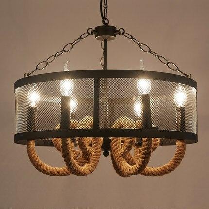 Aliexpress.com : Buy Loft Style Wire Mesh Droplight LED Iron Rope ...