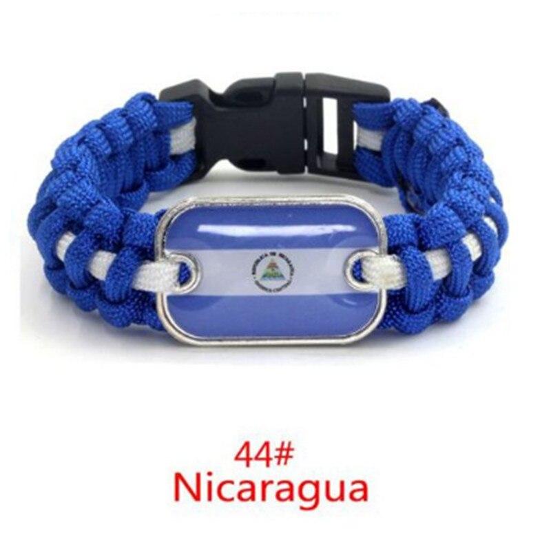 Hologramm-armbänder Schmuck & Zubehör Nicaragua Flagge Paracord Überleben Armbänder & Armreifen Freundschaft Geschenk Für Mann Frauen Mädchen 10 Teile/los AusgewäHltes Material