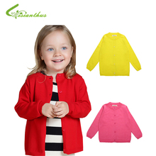 Baby Girls Sweater Cardigan 2017 New Spring Cotton Clothing High Quality Knitted Jacket Fashion Sweater Coat Little Girls Cloth