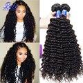 Bele Cabelo Virgem 7A Cabelo Encaracolado Malaio 4 Pacotes Vip beleza Malásia Onda Profunda Curly Weave Do Cabelo Humano Malaio Virgem cabelo
