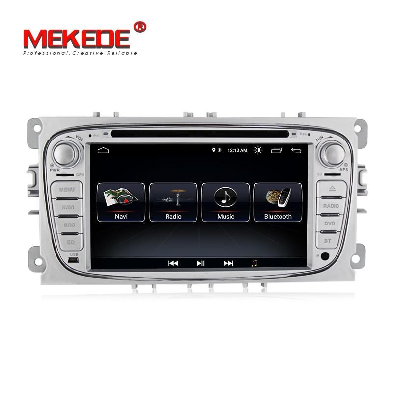 MEKEDE 1024X600 Android 8.1 pour ford focus 2, mondeo, DVD de voiture, radio, navigation gps, BT, Wifi, 1 GB, quad core russe, anglais