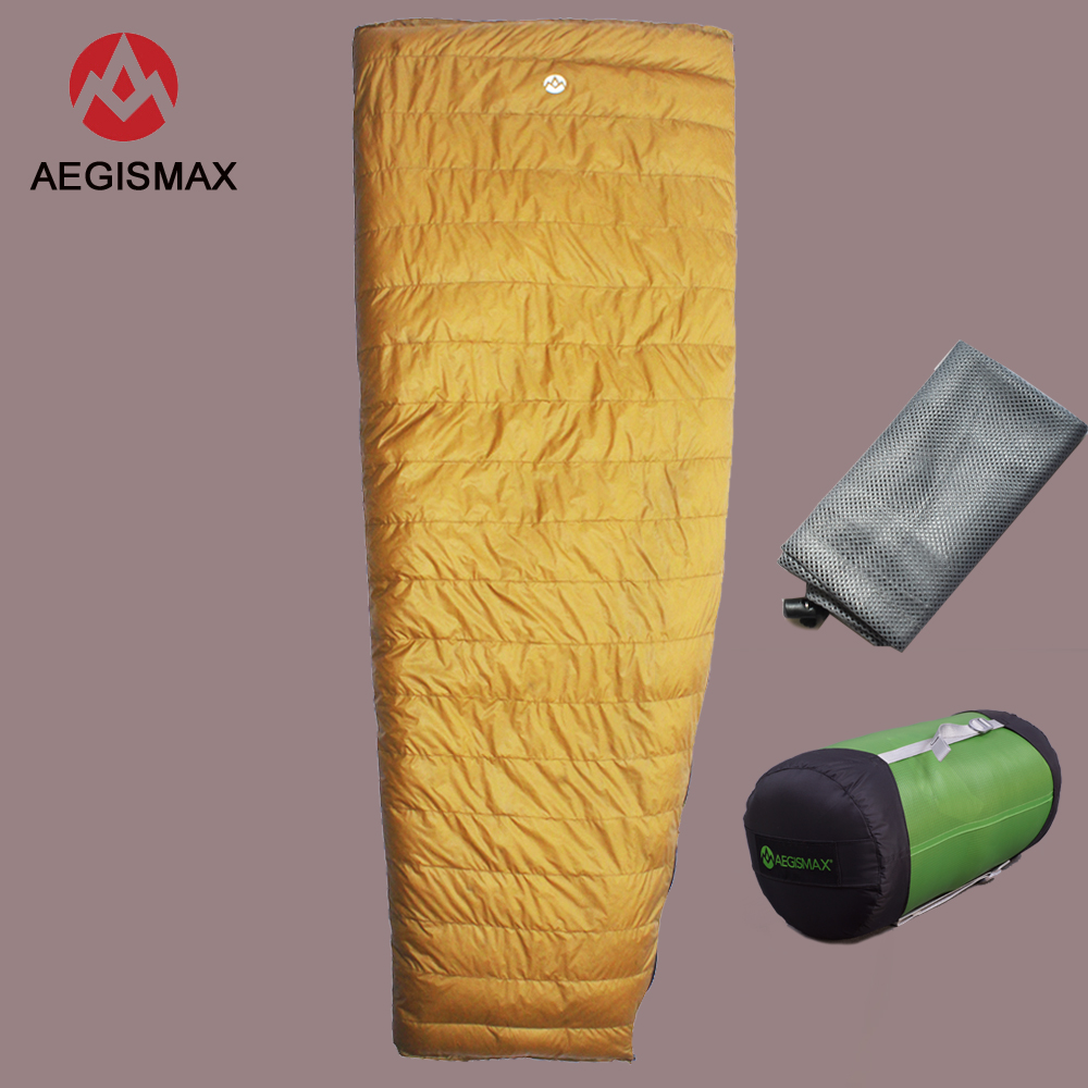Sports & Entertainment Camp Sleeping Gear Aegismax Outdoor Envelope 95% White Goose Down Sleeping Bag Winter Camping Hiking Equipment Gear
