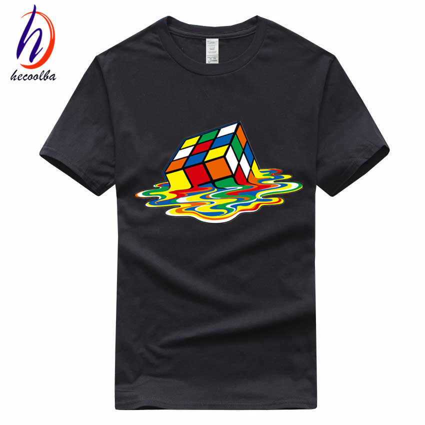 Euro Size,100% Cotton,2017 Men's Cube T-shirt Fashion Unisex Streewear the big bang theory bazinga Tshirt Homme Ali