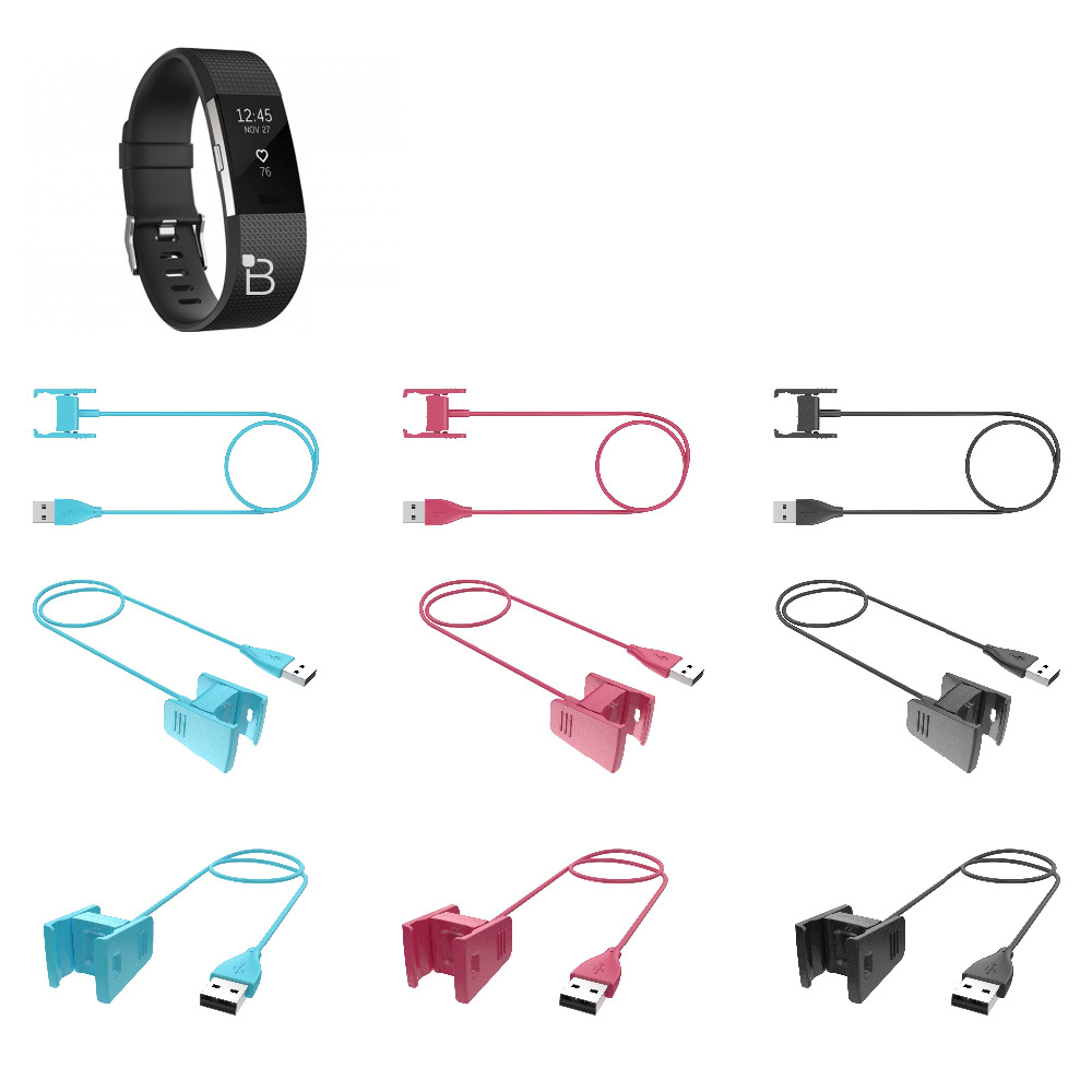 Replaceable USB Charger For Fitbit Charge2 Smart Bracelet Charging Cable for Fitbit Charge 2 3 Wristband Dock Adapter 3 Colors 6